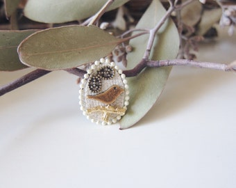 Spring Time Love - Brass Bird Ring - Etsy Front Page