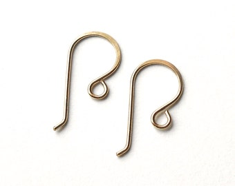 Eight Pair, Gold Filled French Ear Wire, Gold Filled Findings