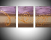 Original Art by UK artist 3 panel abstract painting triptych large wall contemporary canvas office home abstract paintings on hanging kunst