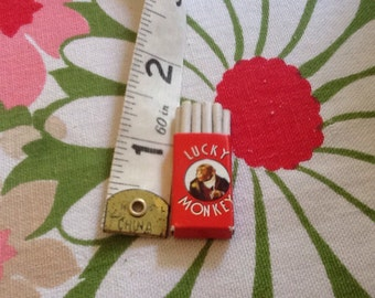Lucky Monkey Cigarettes Miniature Dollhouse Vintage