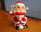 RARE Vintage Japan UCAGCO Ceramic Santa Claus FigurineGoogly Moving Eyes