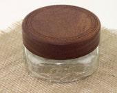 Wooden Mahogany Mason Jar Lids,Wooden Wide mouth Jar Tops, Wood Lids For Ball Mason Jars