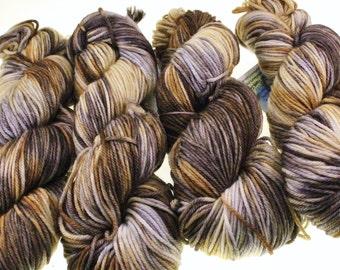 Variegated Kettle Dye Neutrals DK Worsted or Fingering Yarn - African Safari