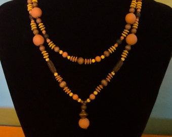 Handmade Ceramic Beads Necklace
