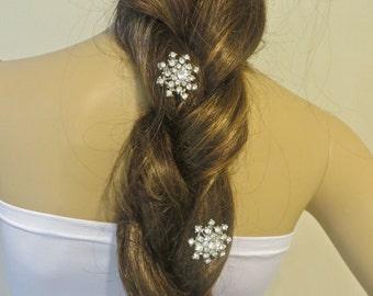 Winter Wedding,  Snowflake Combs, Christmas Wedding, Winter Bride,  Winter Jewelry, Christmas Jewelry, Christmas Bride, Bridal Combs