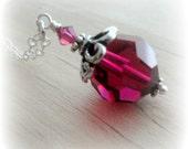 Swarovski Necklace Birthstone Jewelry Best Friend Gift for Woman Christmas Gift For Girlfriend Gift for Mom Gift for Mother Gift for Friend