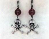 Creepy Gothic Jewelry Skull Earrings Girlfriend Gift Best Friend Skull Jewelry Halloween Earrings Goth Earrings Halloween Jewelry