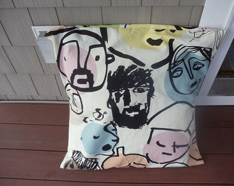 IKEA EDMA Pillow 25 Inch by 25 Inch Pillow Beckmans College of Design Face Fabric