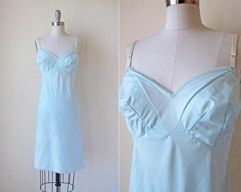 1960s Nightdress | Blue Lingerie | Emilio Pucci Slip