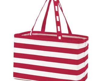 Garnet Stripe Ultimate Tote - FREE Personalization