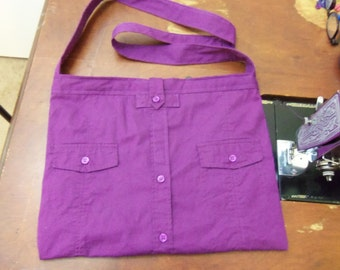 Purple Shirt Purse