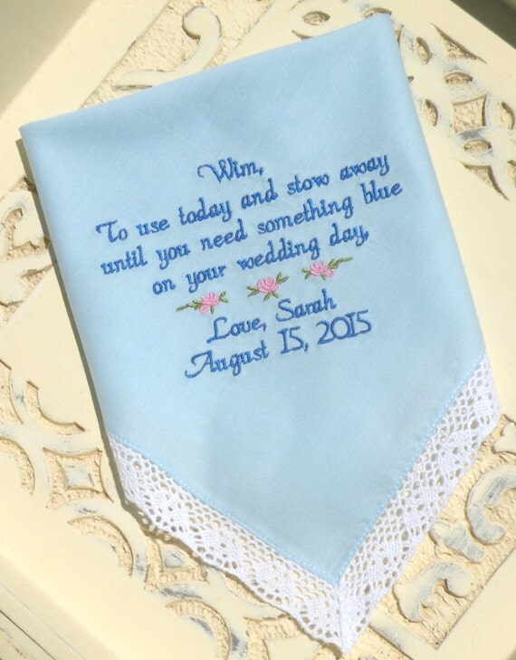 Wedding Gift Ideas For Flower Girl : Flower Girl Wedding Gift Embroidered Wedding Handkerchief Wedding Gift ...