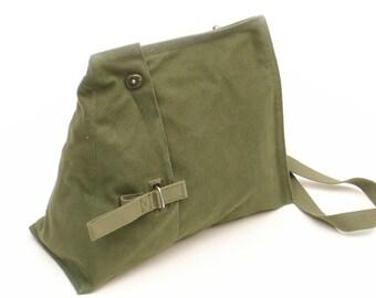Military Messenger Bag OD Green Side Loading Satchel