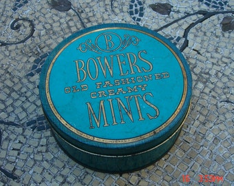 Bowers Old Fashioned Creamy Mints Tin - Shabby Chic Nice