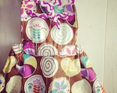 Sew Vicious Handmade Jumper Pinafore Dress Lollipop Hearts Toddler Chevron Knotted