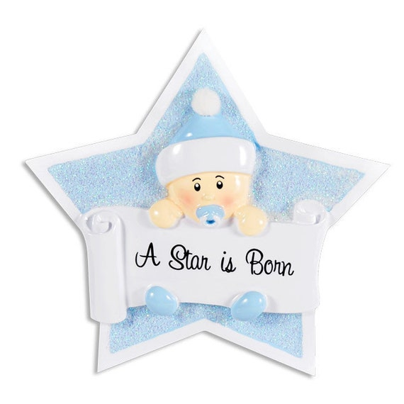 Baby Boy Gifts Christmas : Personalized star baby boy s first christmas ornament
