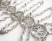 TEN Bracelets Tree Of Life / Wholesale / Handmade / Antique Silver / Boho Hippie Jewelry Layering Resale / Lot / Made in Michigan