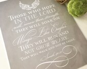 8x10 Hope In The Lord (Isaiah 40:31) Frame-able Art Print
