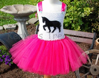 Horse/ Cowgirl Tutu Dress ~ Size 2T to Girl's Size 6 ~ Can Be Customized with Different Colors