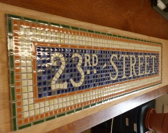 NYC Subway Mosaic Tile Install for Bathroom  /  Kitchen  /  Backsplash - Mosaic Install - 23rd Street