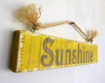 Beach signs, wood sign, custom wood signs, rustic beach signs, sunshine sign, beach decor, wood beach signs