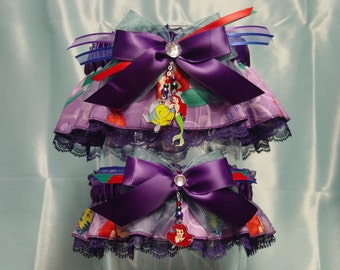 Disney Ariel Little Mermaid Under the Sea Wedding Garter Set
