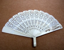 Vintage Hand Fan, Advertising Fan, Art Deco Fan, Folding Fan, Hand Fan, Vintage Accessory