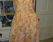 Vintage 1960's Mod Dress Womens small