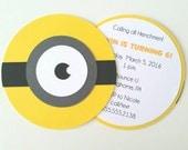 Minion Invitation - Pack of 10