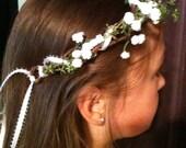 Babies breath floral crown