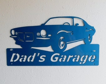 1970 Chevrolet Camaro Man Cave Classic Personalized Garage Sign Custom Colors