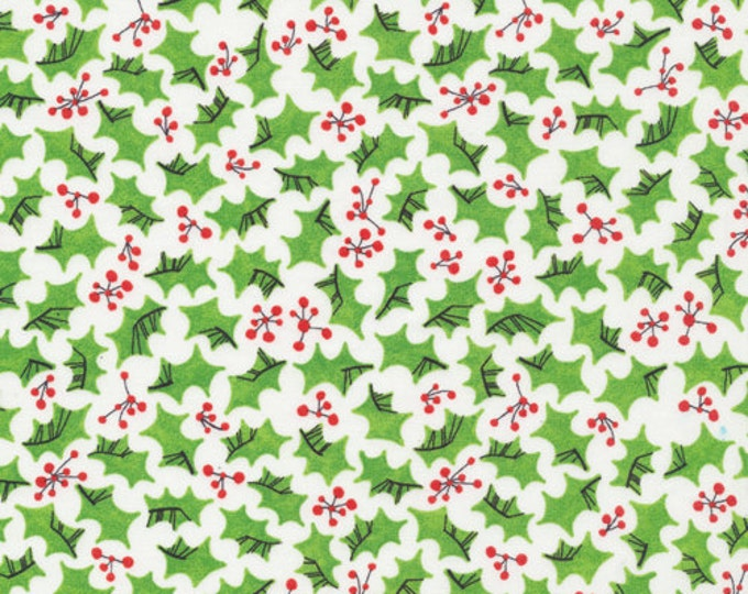 Organic Cotton Fabric - Cloud9 Festive - Holly