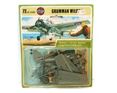 Vintage Model Airplane (c.1970s) Grumman Wild Cat Air Plane Building Kit Great for Collector New Old Stock Model Plane