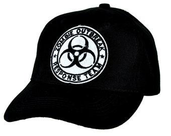 Zombie Outbreak Response Team Bio-Hazard Black Baseball Cap Hat - DYS-PA-243-WHT-Cap