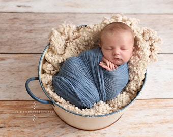 Denim Blue Cheesecloth Baby Wrap Cheese Cloth Newborn Photography
