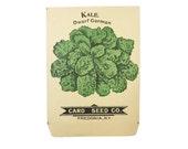 antique 1900s litho card seed co. dwarf german kale packet