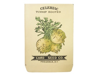 antique 1900s litho card seed co. turnip rooted celeriac packet