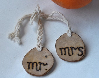 wedding decor   •   birch wood Mr & Mrs for wedding decor •   lovely personalized ornament gift