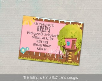 Girly Backyard Party Invitation