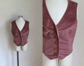 vintage child's vest - MAUVELOUS corduroy vest / sz 6/7