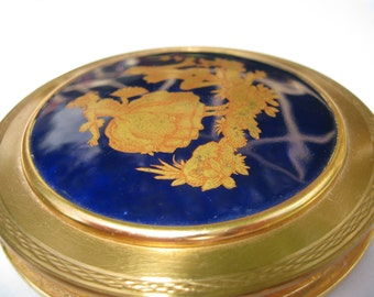 Vintage French Limoges Powder Compact