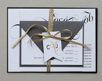 Modern Vintage Wedding Invitation Template,Romantic Calligraphy Invitation Digital Download,Modern Calligraphy Wedding Invitations Printable