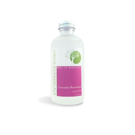 Cucumber Rosewater Facial Toner - 4 oz.