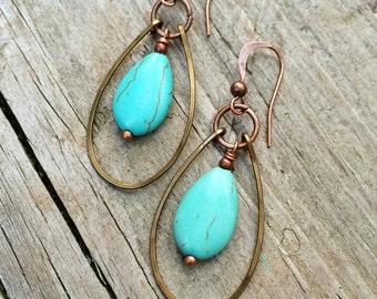 Boho Jewelry Turquoise Earring Boho Earrings Bohemian Jewelry