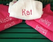 Personalized Bridesmaids Robes - Names or Monogram Monogrammed Bridesmaid Robes Thigh Length -The Palm Gifts