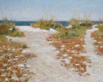 Original Plein Air Oil Painting Seascape Lido Beach