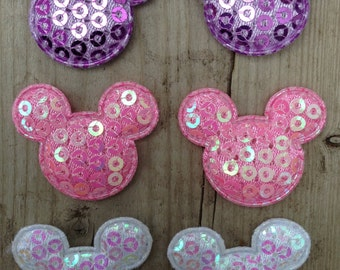 Mouse head Appliques for Making your own Hair Clips