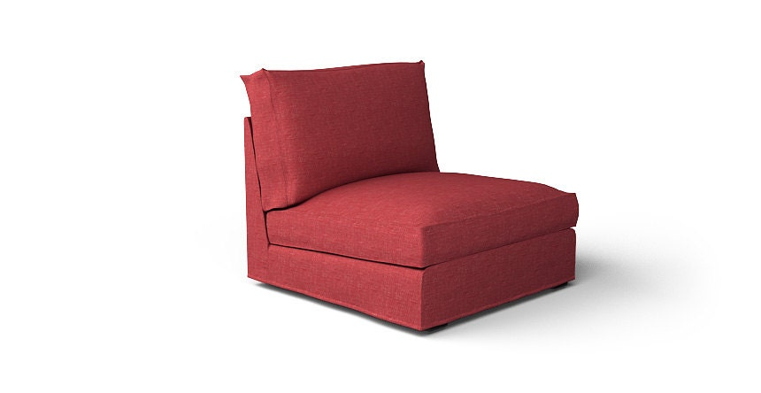 Ikea Kivik Armchair Slipcover Only In Nomad Red With White