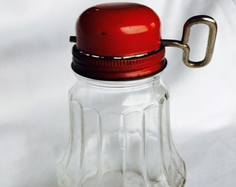 Nut Grinder Federal Housewares With Glass Holder And Red Metal Top Rustic