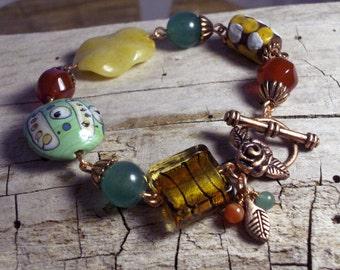 Green Yellow Orange Funky But Chic Bracelet